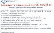 Zaproszenie na szczepienia przeciwko COVID-19